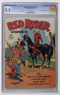 """Golden Age (1938-1955):Western, Red Ryder Comics #29 Davis Crippen (""""D"""" Copy) pedigree (Dell, 1945) CGC VF+ 8.5 Off-white pages...."""