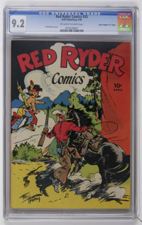 "Red Ryder Comics #33 Davis Crippen (""D"" Copy) pedigree (Dell, 1946) CGC NM- 9.2 Off-white to white pages"