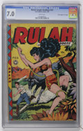 """Golden Age (1938-1955):Miscellaneous, Rulah Jungle Goddess #23 Davis Crippen (""""D"""" Copy) pedigree (Fox Features Syndicate, 1949) CGC FN/VF 7.0 White pages...."""