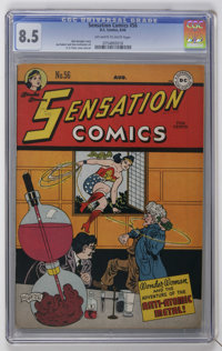 Sensation Comics #56 (DC, 1946) CGC VF+ 8.5 Off-white to white pages