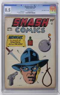 "Smash Comics #64 Davis Crippen (""D"" Copy) pedigree (Quality, 1946) CGC VF+ 8.5 Cream to off-white pages"