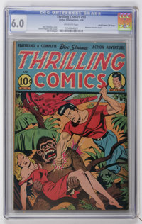 """Thrilling Comics #53 Davis Crippen (""""D"""" Copy) pedigree (Better Publications, 1946) CGC FN 6.0 Off-white pages..."""