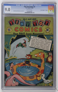 "Tiny Tot Comics #2 Davis Crippen (""D"" Copy) pedigree (EC, 1946) CGC VF/NM 9.0 Off-white pages"