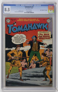 "Golden Age (1938-1955):Western, Tomahawk #12 Davis Crippen (""D"" Copy) pedigree (DC, 1952) CGC VF+ 8.5 Off-white pages...."
