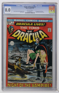 Tomb of Dracula #1 (Marvel, 1972) CGC VF 8.0 Off-white pages