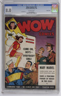 Golden Age (1938-1955):Superhero, Wow Comics #22 Crowley Copy pedigree (Fawcett, 1944) CGC VF 8.0 Off-white pages....