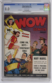 Wow Comics #22 Crowley Copy pedigree (Fawcett, 1944) CGC VF 8.0 Off-white pages