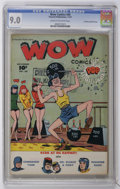 Golden Age (1938-1955):Humor, Wow Comics #60 Crowley Copy/File Copy (Fawcett, 1947) CGC VF/NM 9.0 Cream to off-white pages....