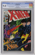 Silver Age (1956-1969):Superhero, X-Men #59 (Marvel, 1969) CGC VF/NM 9.0 Off-white pages....