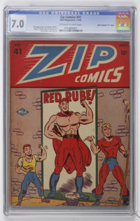 "Zip Comics #41 Davis Crippen (""D"" Copy) pedigree (MLJ , 1943) CGC FN/VF 7.0 Off-white to white pages"