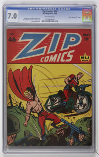 "Zip Comics #46 Davis Crippen (""D"" Copy) pedigree (MLJ, 1944) CGC FN/VF 7.0 Off-white pages"