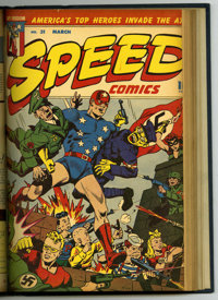 Speed Comics #29-35 Bound Volume (Harvey, 1943-44)