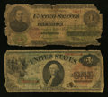 Large Size:Group Lots, Fr. 17a? $1 Legal Tender Note. Good.. Fr. 18 $1 Legal Tender Note. Good.. ... (Total: 2 notes)