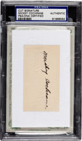Baseball Collectibles:Others, Mickey Cochrane Signed Cut Signature, PSA Authentic....