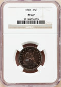 Proof Seated Quarters: , 1887 25C PR67 NGC. NGC Census: (11/1). PCGS Population (3/0).Mintage: 710. Numismedia Wsl. Price for problem free NGC/PCGS...