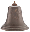 Decorative Arts, British:Other , R.M.S. QUEEN MARY BRIDGE BELL DATED 1934 . Height 6 inches (15.2cm). ...