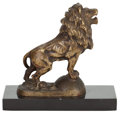 Decorative Arts, British:Other , DRAF & STIFT RARE BRONZE ROARING LION AUTO MOBILE MASCOT, CIRCA1916 . Height of ornament 6 inches (15.2 cm). ...