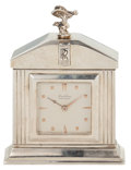Decorative Arts, British:Other , BREITLING SILVER ROLLS ROYCE DESK CLOCK, CIRCA 1950 . Height 3-1/2inches (8.9 cm). ...