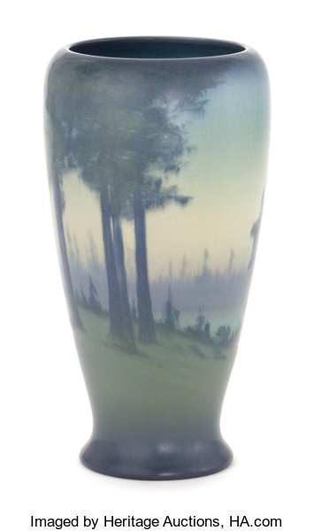 A Rookwood Art Pottery Vase Decorated By Coyne Decorated By Lot