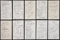Baseball Collectibles:Others, Baseball Stars Multi Signed Sheets Lot of 10....