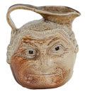 Ceramics & Porcelain, A MARTIN BROTHERS STONEWARE BARRISTER DOUBLE SIDED FACE JUG . Robert Wallace Martin & Bros., Southall, England,...