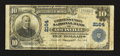 National Bank Notes:Kentucky, Louisville, KY - $10 1902 Plain Back Fr. 632 The Citizens Union NBCh. # 2164. ...