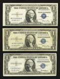 Error Notes:Error Group Lots, Fr. 1614 $1 1935E Silver Certificate. VF-XF with third printingshifted slightly upwards. Fr. 1614 $1 1935E Silver Certifica...(Total: 5 notes)