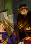 Paintings, HUGH JOSEPH WARD (American, 1909-1945). Speed Mystery pulp cover, July 1943. Oil on canvas. 30 x 21 in.. Not signed. ...