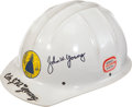 Transportation:Space Exploration, Apollo Contractor General Aerojet Hard Hat Directly from the Personal Collection of Astronaut John Young, Signed. ...
