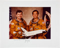Autographs:Celebrities, Space Shuttle Columbia (STS-1) Large Color Crew PhotoDirectly from the Personal Collection of Mission Commander J...