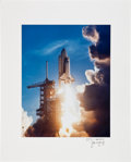 Autographs:Celebrities, Space Shuttle Columbia (STS-1) Large Color Launch PhotoDirectly from the Personal Collection of Mission Commander...