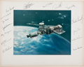 Autographs:Celebrities, Skylab Flight and Backup Crews-Signed Large Color Photo Directlyfrom the Personal Collection of Skylab II Pilot Jack Lousma, ...