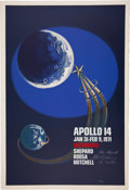 Autographs:Celebrities, Apollo 14 Crew-Signed Large Color Limited Edition Lithograph....