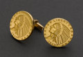 "Estate Jewelry:Cufflinks, Gold ""Coin"" 18k Cufflinks. ..."