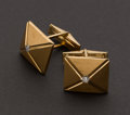 Estate Jewelry:Cufflinks, Gent's Gold & Diamond Cufflinks. ...
