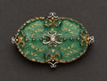 Estate Jewelry:Brooches - Pins, Enamel & 18k Gold Pin. ...