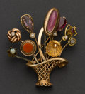 Estate Jewelry:Brooches - Pins, Antique Gold Stick Pin Brooch. ...