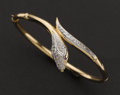 Estate Jewelry:Bracelets, Diamond & Ruby Set 14k Snake Bracelet. ...
