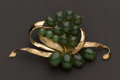 Estate Jewelry:Brooches - Pins, Jadeite & Gold Pin. ...