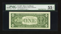 Error Notes:Miscellaneous Errors, Fr. 1619 $1 1957 Silver Certificates. Two Examples. PMG About Uncirculated 55 EPQ; Gem Uncirculated 65 EPQ.. ... (Total: 2 notes)
