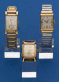 Timepieces:Wristwatch, Two Vintage Hamilton's And One LeCoultre Wristwatches Runners. ...(Total: 3 Items)