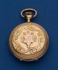 Timepieces:Pocket (post 1900), Waltham O Size 14k Multi-Color Gold Pocket Watch. ...