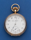 Timepieces:Pocket (post 1900), Illinois 17 Jewel 10k Gold 16 Size Open Face Pocket Watch. ...