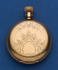 Timepieces:Pocket (post 1900), Waltham 14k Gold Model 88 - 16 Size Hunter's Case Pocket Watch. ...