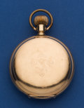 Timepieces:Pocket (post 1900), Waltham 14k Gold 18 Size Hunter's Case Pocket Watch. ...