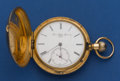 Timepieces:Pocket (post 1900), Paul Matthey Doret 54 mm 18k Gold Hunter's Case Pocket Watch. ...