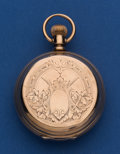 Timepieces:Pocket (post 1900), Hampden 18 Size Low Karat Gold Hunter's Case Pocket Watch. ...