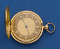 Timepieces:Pocket (post 1900), Alex Mowat Bath 18k Gold 42 mm Side Lever Fusee. ...