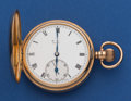 Timepieces:Pocket (post 1900), Swiss 16 Size 49 mm 9k Gold Hunter's Case Pocket Watch. ...