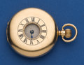 Timepieces:Pocket (post 1900), Swiss 47 mm 18k Gold Demi-Hunter Pocket Watch For Restoration. ...